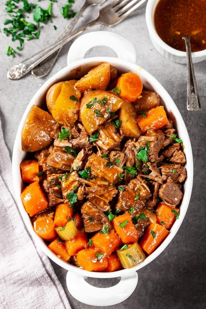 Instant Pot Beef Pot Roast with Potatoes and Carrots