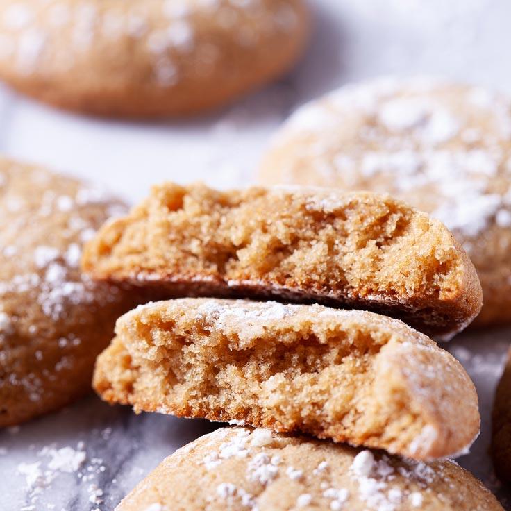 Brown Sugar cookies split in half