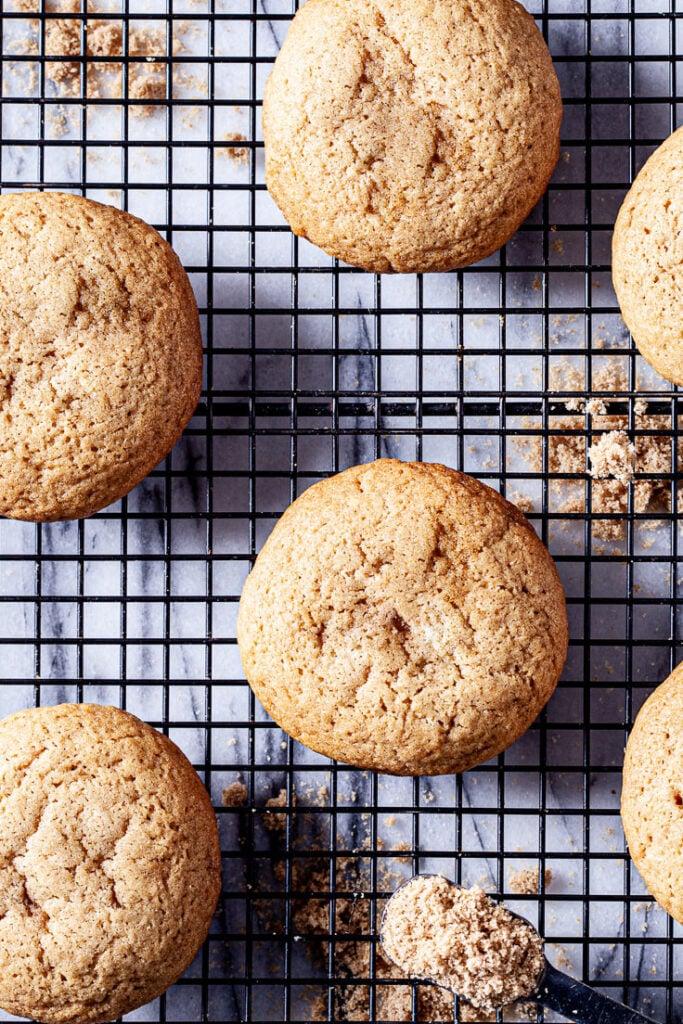 Brown Sugar Cookies on cooling rack