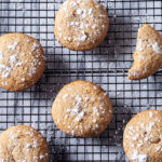 Brown Sugar Cookies with powdered sugar square