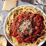 homemade spaghetti sauce in a bowl
