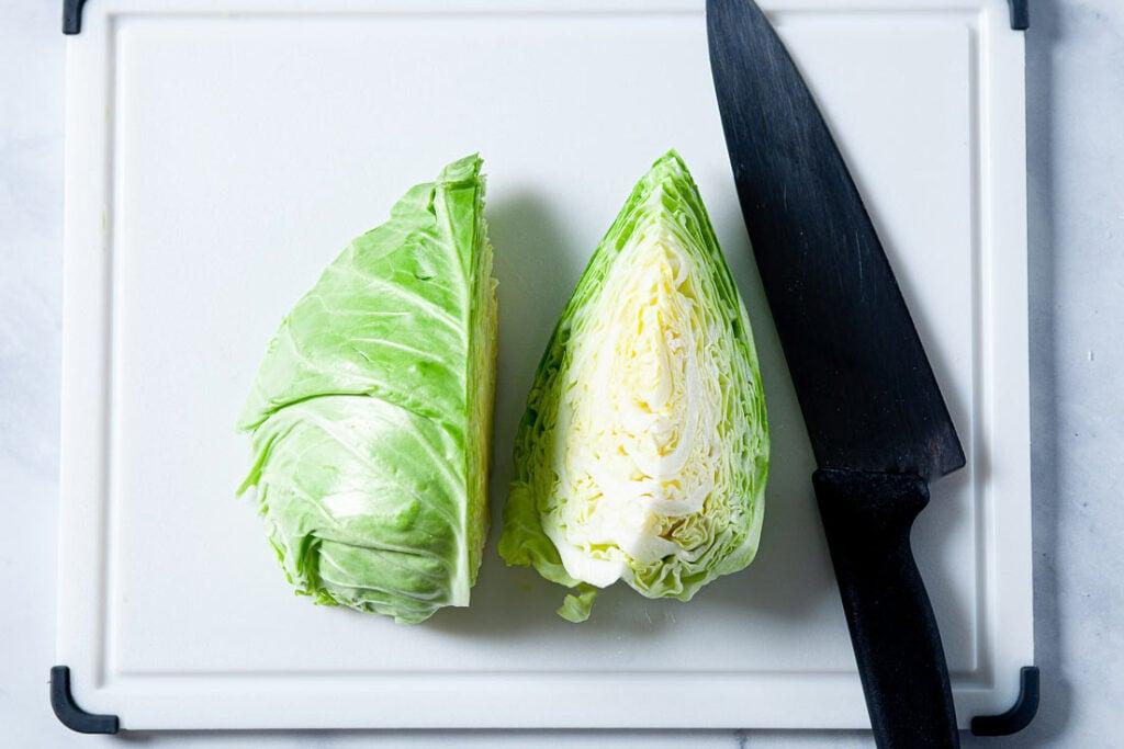 Cut cabbage for sauté