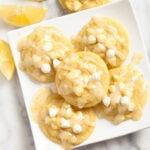 Lemon Pudding Cookies with Lemon Glaze