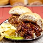 BBQ Pulled Chicken on buns