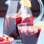 Red Sangria in pitcher and glass
