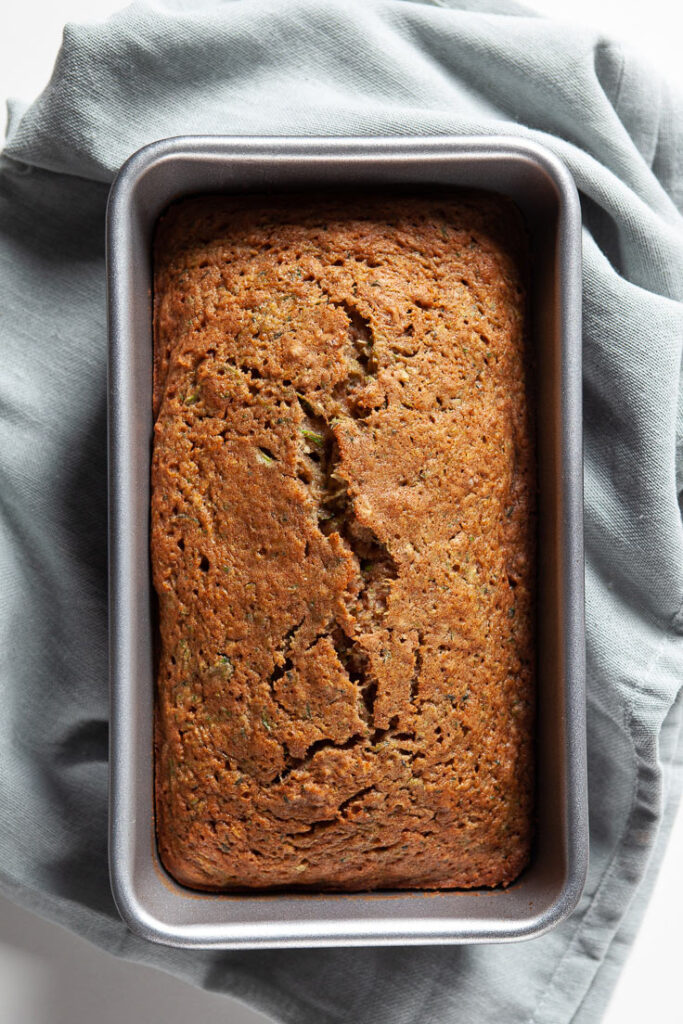zucchini bread baked in loaf pan
